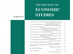 Paper by Fellow Paul Muller in Review of Economic Studies