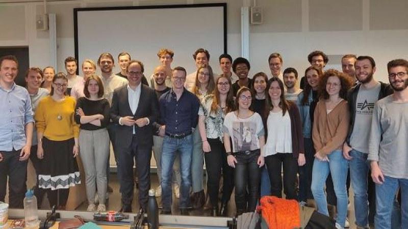 Dutch Minister Wouter Koolmees Attends a Seminar of TI Alumni Alexandra Rusu and Albert Jan Hummel