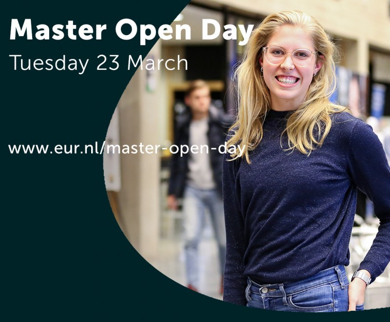 Online Master Open Day Erasmus University Rotterdam on March 23